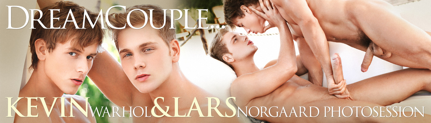 DREAM COUPLE… LARS NORGAARD & KEVIN WARHOL PHOTOSESSION