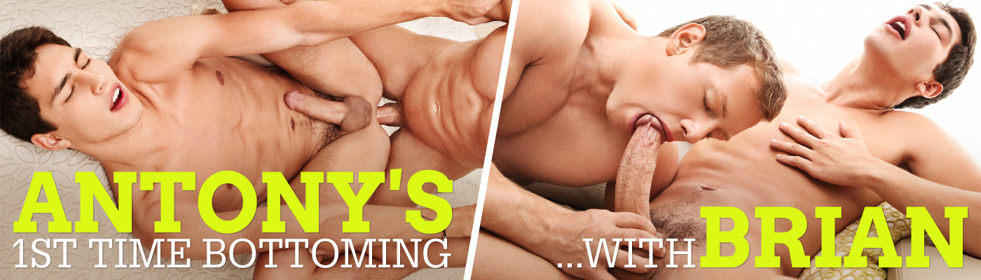 Antony's 1st time bottoming… with Brian Jovovich