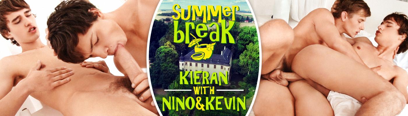 SUMMER BREAK… Kieran Benning with Kevin Warhol & Nino Valens